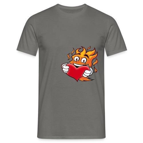 Flame Heart Shirt - Männer T-Shirt