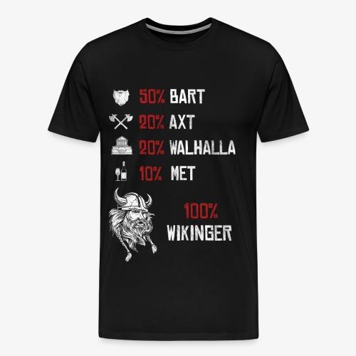100% Wikinger - Herren Premium T-Shirt - Männer Premium T-Shirt