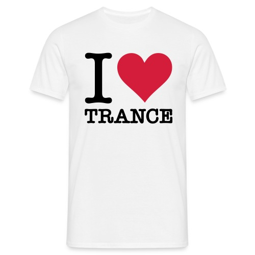 I love trance - T-skjorte for menn