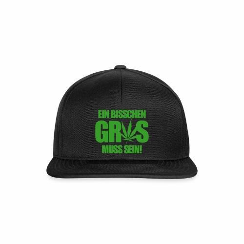 Ein bisschen Gras muss sein! - Cap - Snapback Cap