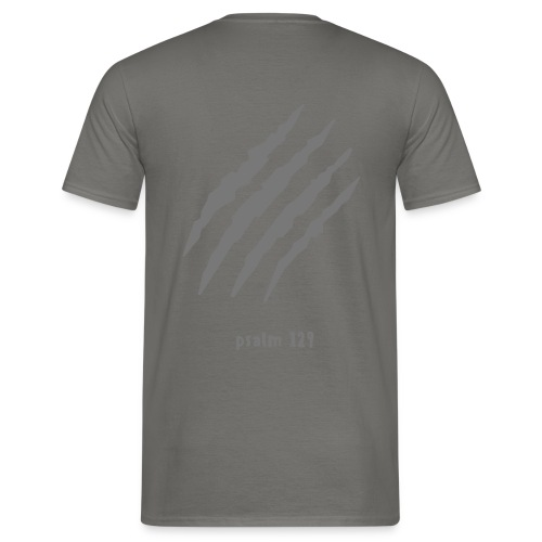 wounded back, Mans Shirt (plain print) - Männer T-Shirt