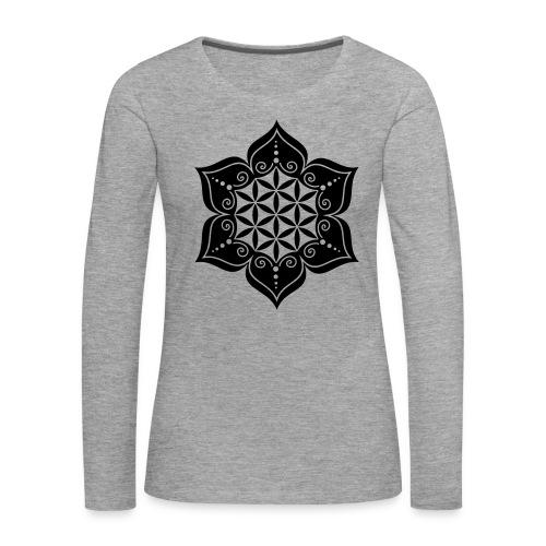 Flor de la Vida - Camiseta de manga larga premium mujer