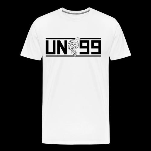 Bortebanner hvit - Premium T-skjorte for menn