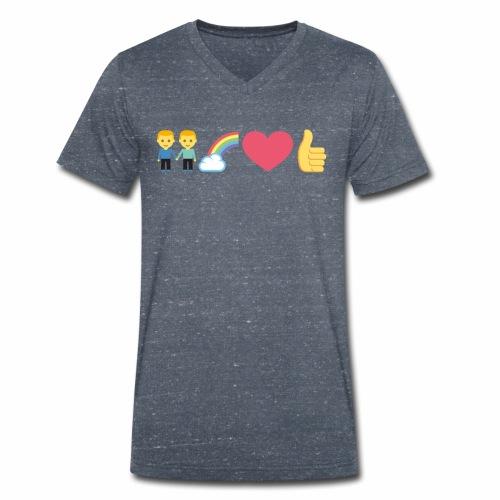Rainbow - Männer Bio-T-Shirt mit V-Ausschnitt von Stanley & Stella