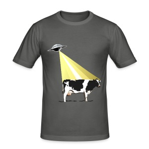 OVNI Abduction Bovine - Tee shirt près du corps Homme