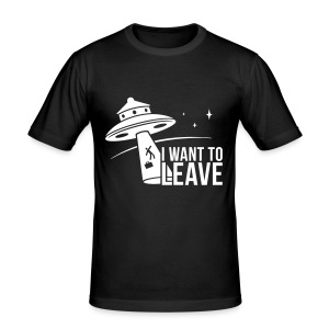 I want to leave - Tee shirt près du corps Homme
