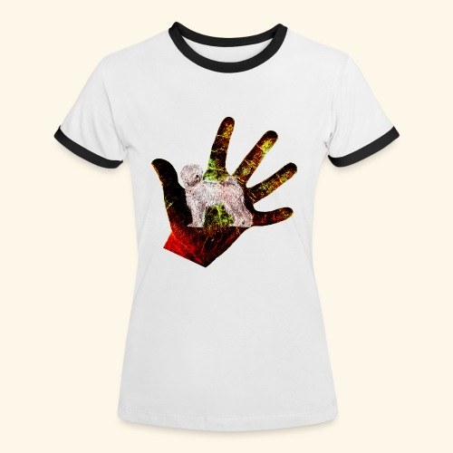 Stop in The Name  - Frauen Kontrast-T-Shirt