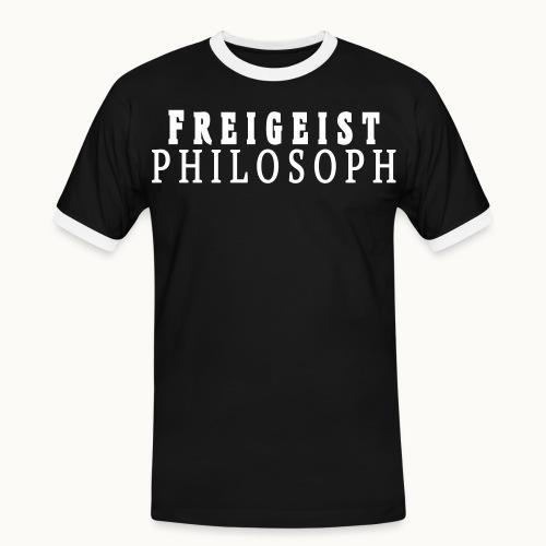 Freigeist Philosoph - Männer Kontrast-T-Shirt