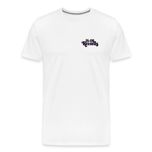 18-09 Small Logo Men's White T-Shirt  - Men's Premium T-Shirt