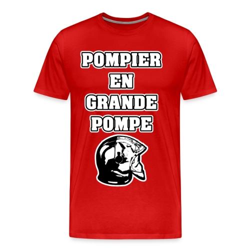 POMPIER EN GRANDE POMPE - JEUX DE MOTS - FRANCOIS VILLE - T-shirt Premium Homme