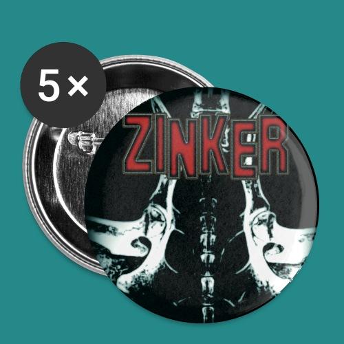 Zinker Button Album Cover - Buttons groß 56 mm (5er Pack)
