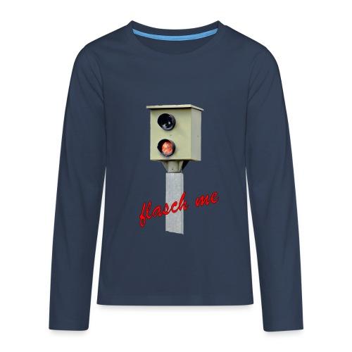 Das Blitzer Shirt flash me - Teenager Premium Langarmshirt