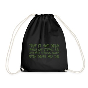 That is not dead which can eternal lie - sacca Cthulhu - Drawstring Bag