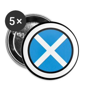 Scotland Saltire Badges  - Buttons large 56 mm