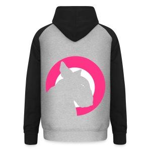 Bull Terrier Target Neon Pink - Unisex Baseball Hoodie