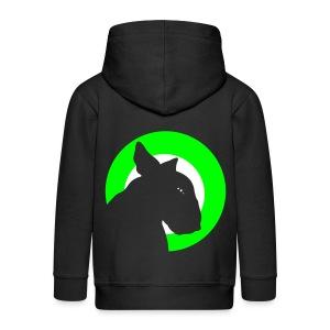 Bull Terrier Target Neon Green  - Kids' Premium Zip Hoodie