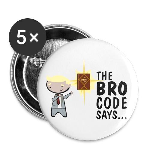 chapas bro code how i met your mother - Paquete de 5 chapas medianas (32 mm)
