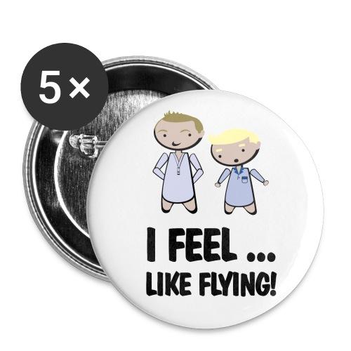 chapa barney feel like flying - Chapa mediana 32 mm