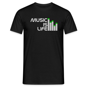 Music Is My Life - Men's T-Shirt