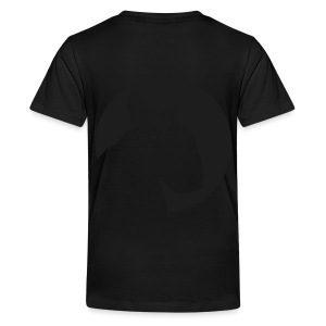 Bull Terrier Target Black - Teenage Premium T-Shirt