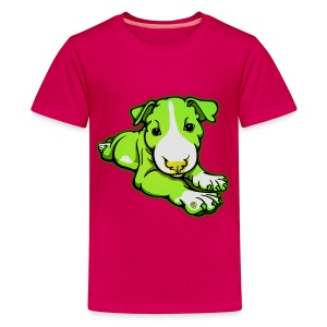 Lime Chilled Bull Terrier  - Teenage Premium T-Shirt