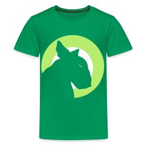 Bull Terrier Target Green - Teenage Premium T-Shirt