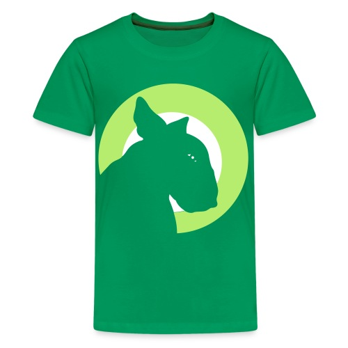 Bull Terrier Target Green - Teenage Premium T-Shirt
