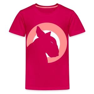 Bull Terrier Target Soft Pink - Teenage Premium T-Shirt