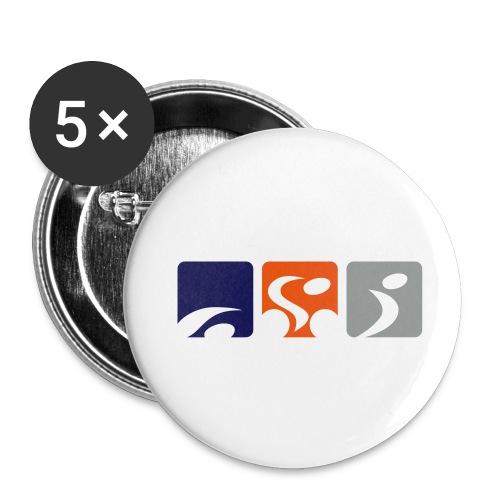 TriTalk Pin Badge - Buttons medium 1.26/32 mm (5-pack)