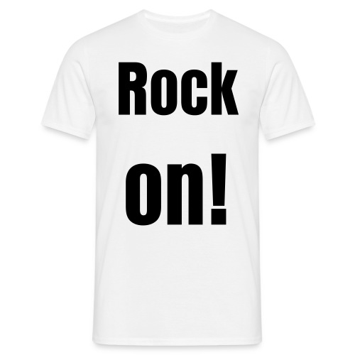 rock on tee, all night long - Men's T-Shirt