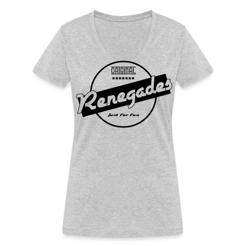 Renegades Damen Shirt Retro 2.0 Stamp V-Ausschnitt - Frauen Bio-T-Shirt mit V-Ausschnitt von Stanley & Stella