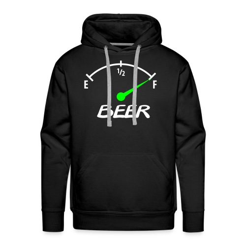 Beer (White & Lime Logo) - Premium hettegenser for menn
