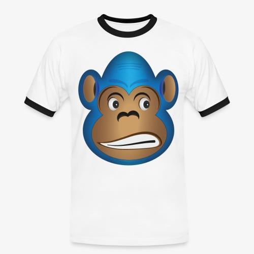 Unsicherer Gorilla - Männer Kontrast-T-Shirt