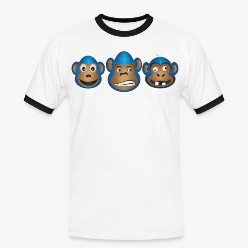 Affenbande vereint - Männer Kontrast-T-Shirt