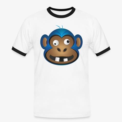 Verrückter Schimpansenaffe - Männer Kontrast-T-Shirt