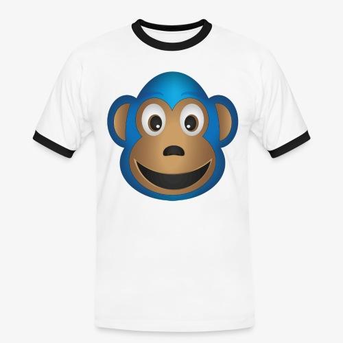 Lustiger Lemur - Männer Kontrast-T-Shirt