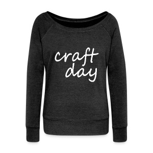 Craft Day Slouchy Sweater - Women's Boat Neck Long Sleeve Top