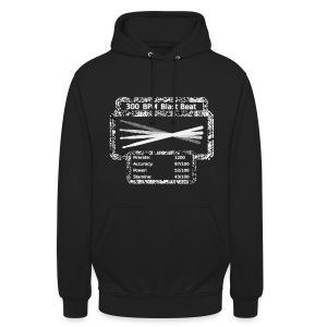 300 BPM Blast Beat Hoodie [Black and White]! - Unisex Hoodie