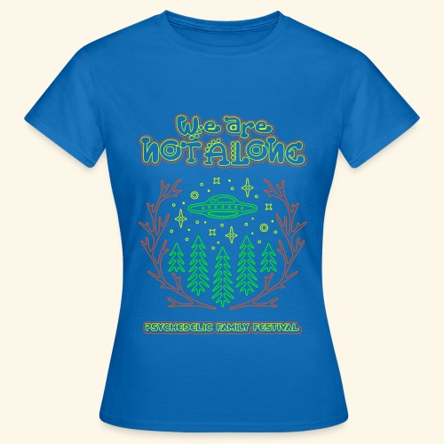WE ARE NOT ALONE -  LADYS - FIRST ENCOUNTER UV ACTIV - Blue - Frauen T-Shirt