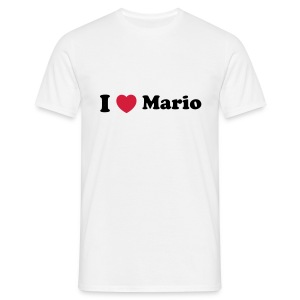I love Mario Tshirt - Men's T-Shirt