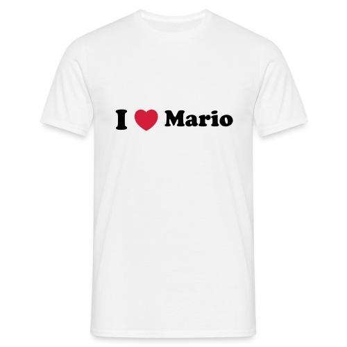 I love Mario Tshirt - Men's T-Shirt