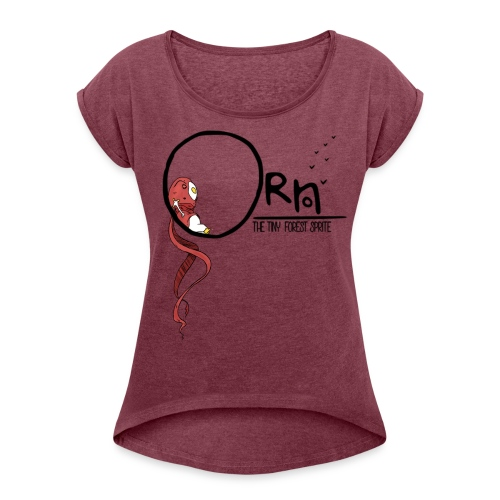 ORN CHILL WOMENS TEE - Women's T-shirt with rolled up sleeves