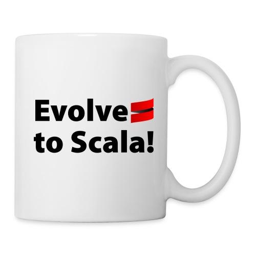 White Mug with Evolve to Scala Motto - Mug