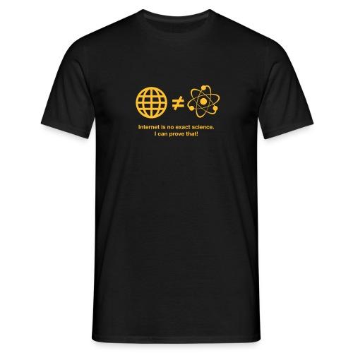Internet Science Shirt - Männer T-Shirt