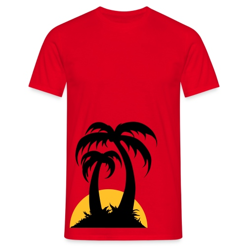 Question sunset - T-skjorte for menn
