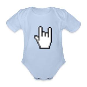 Handzeichen Cursor   - Baby Bio-Kurzarm-Body