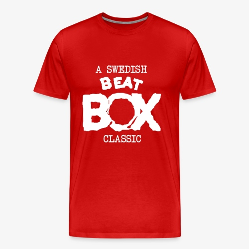 Premium T-shirt, Men: Beat Box [multiple colors, white logo] - Premium-T-shirt herr