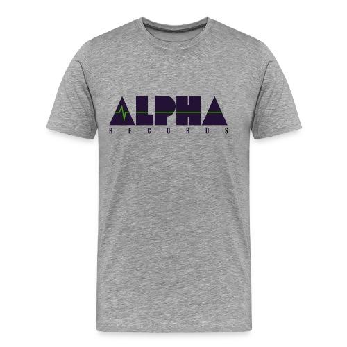Premium T-shirt, Men: Alpha Records [multiple colors, purple+green logo] - Premium-T-shirt herr