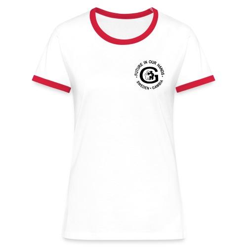 LDamtopp FIOH - Kontrast-T-shirt dam