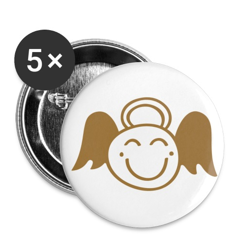 Badge Angel Tsmiley - or mat - Badge grand 56 mm
